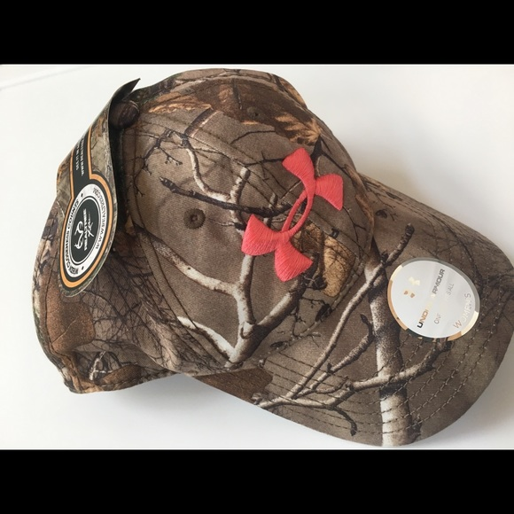 REALTREE UNDER ARMOR camo hunting hat CAP for her 9ee479d6096f
